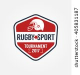 rugby logo vector  football... | Shutterstock .eps vector #405831187