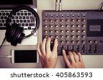 mixer  laptop and smart phone | Shutterstock . vector #405863593