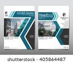 blue annual report brochure...   Shutterstock .eps vector #405864487