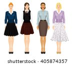 young girls with different... | Shutterstock .eps vector #405874357