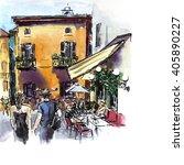travel illustration. happy... | Shutterstock . vector #405890227