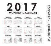 simple 2017 year vector...   Shutterstock .eps vector #405893023
