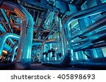 equipment  cables and piping as ... | Shutterstock . vector #405898693