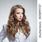 portrait of a beautiful woman... | Shutterstock . vector #405899737