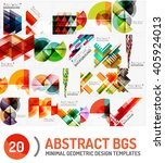 collection of geometric vector... | Shutterstock .eps vector #405924013