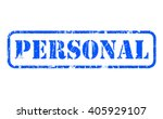 personal rubber blue stamp text ... | Shutterstock . vector #405929107