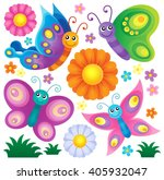 happy butterflies theme set 2   ... | Shutterstock .eps vector #405932047