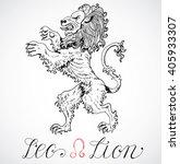 hand drawn astrological zodiac... | Shutterstock .eps vector #405933307