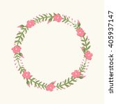 floral frame  for wedding... | Shutterstock .eps vector #405937147