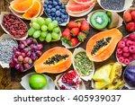 fruits  berries  nuts  seeds... | Shutterstock . vector #405939037