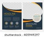 brochure template flyer design...   Shutterstock .eps vector #405949297