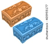 Two Carved Caskets Natural And...