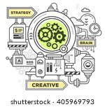 vector illustration of creative ... | Shutterstock .eps vector #405969793