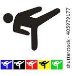 martial arts icon | Shutterstock .eps vector #405979177