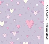 seamless heart background  ... | Shutterstock .eps vector #405991777