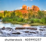 Cathedral Rock Formation And...