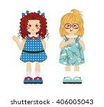 vector cartoon object. kawaii... | Shutterstock .eps vector #406005043
