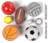 3d rendering of balls set | Shutterstock . vector #406023007