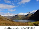 Wastwater With Snow Capped ...