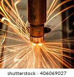 industrial welding automotive... | Shutterstock . vector #406069027