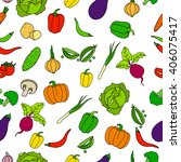 seamless colorful pattern of... | Shutterstock . vector #406075417