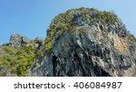limestone rocks at thailands... | Shutterstock . vector #406084987