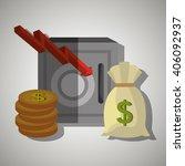economy concept design  | Shutterstock .eps vector #406092937