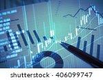stock market chart.business... | Shutterstock . vector #406099747