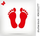 feet icon | Shutterstock .eps vector #406101277