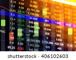 financial data on a monitor.... | Shutterstock . vector #406102603