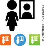 female standing in front of a... | Shutterstock .eps vector #406103983