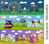 amusement park banner concept... | Shutterstock . vector #406104823