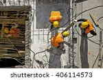 construction site workers  ... | Shutterstock . vector #406114573