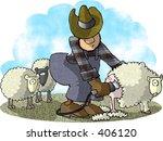 clipart illustration of a man... | Shutterstock . vector #406120