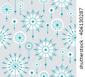 seamless flower pattern with... | Shutterstock .eps vector #406130287