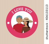 love and couple design   vector ... | Shutterstock .eps vector #406133113