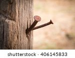Rusty Nail In Wood