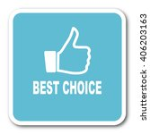 best choice blue square... | Shutterstock . vector #406203163