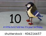 Small photo of 10th birthday - a little bird told me