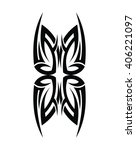 tribal tattoo art | Shutterstock .eps vector #406221097