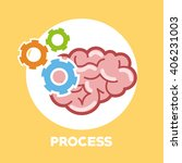 graphic design of process ... | Shutterstock .eps vector #406231003