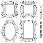 ornamental black frames on... | Shutterstock . vector #40623871