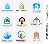 real estate and building logo... | Shutterstock .eps vector #406238773