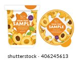 apricot yogurt package design... | Shutterstock .eps vector #406245613