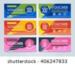 gift voucher template with a... | Shutterstock .eps vector #406247833