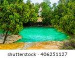 emerald pool aka sa morakot ... | Shutterstock . vector #406251127