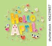 hello april | Shutterstock . vector #406259857
