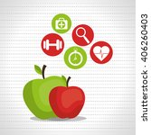 healthy lifestyle design  | Shutterstock .eps vector #406260403