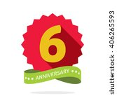 6th anniversary badge with... | Shutterstock .eps vector #406265593