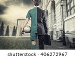 Young Man Half Soccer Player...